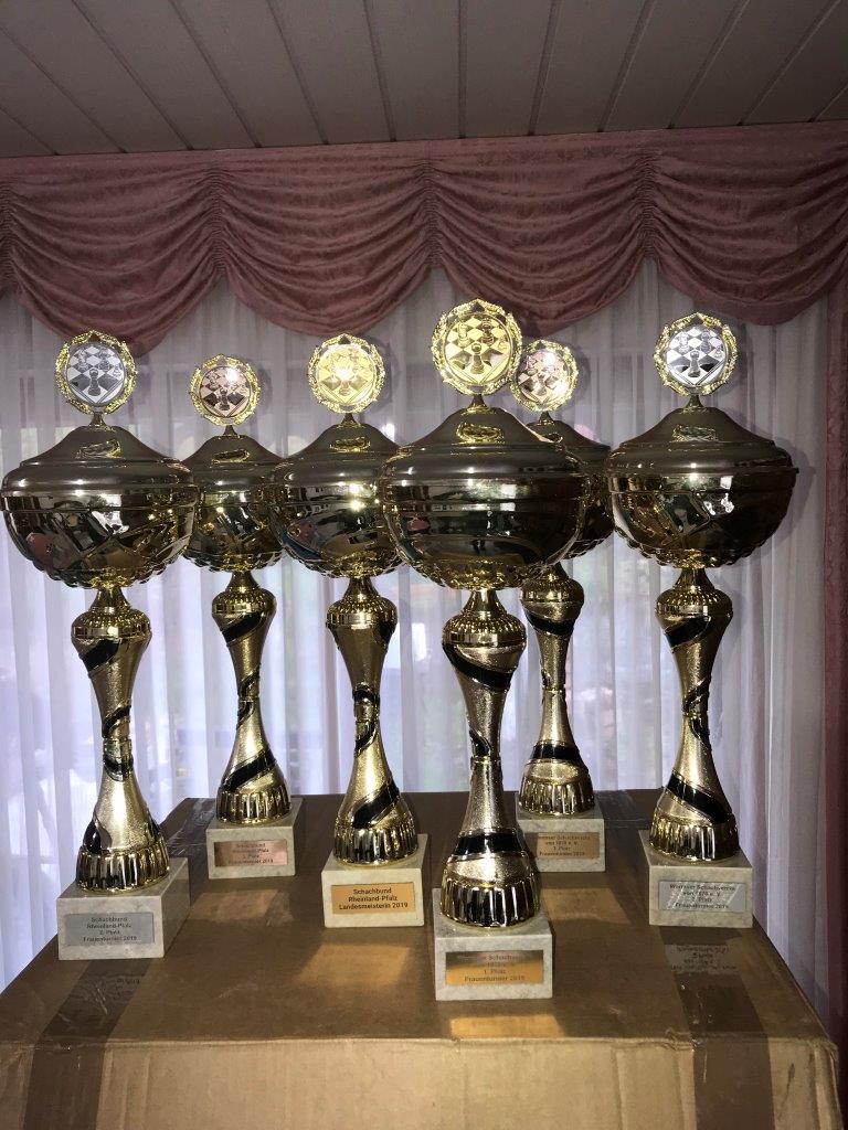 Die Pokale für 2019