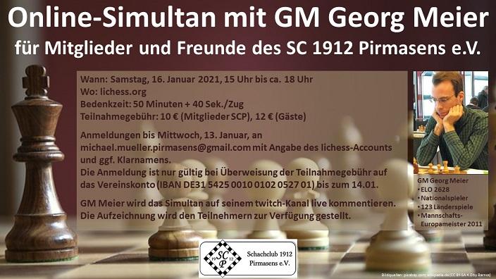 Online-Simultan mit GM Georg Meier