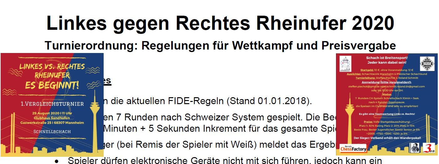 Linkes gegen Rechtes Rheinufer 2020